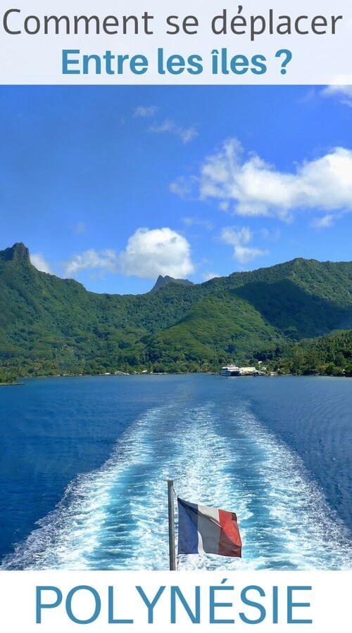 Le déplacement en bateau entre les îles en polynésie