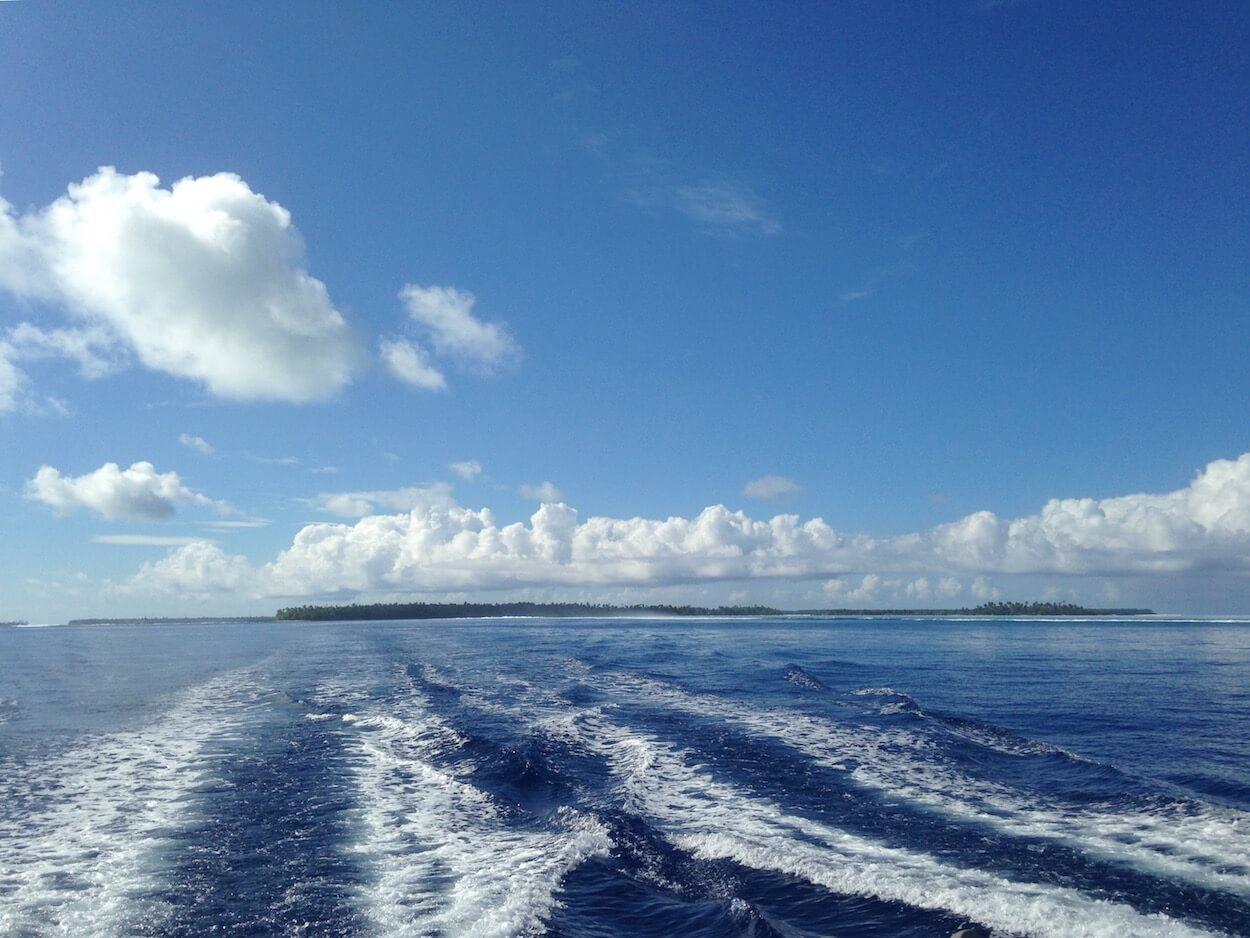catamaran sur tetiaroa en polynésie française