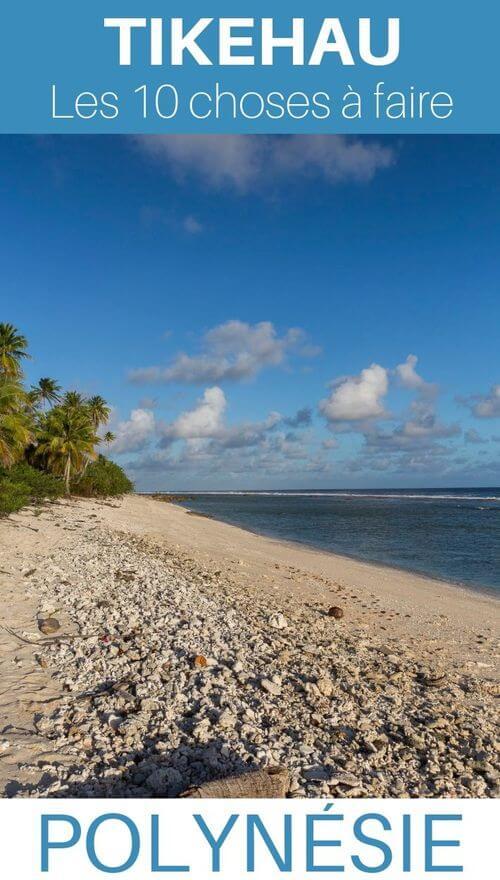 atoll tikehau dans les tuamotu