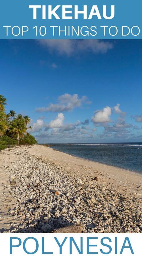 tikehau atoll in french polynesia