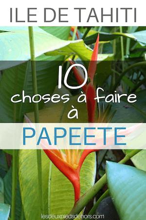 Que faire à Papeete