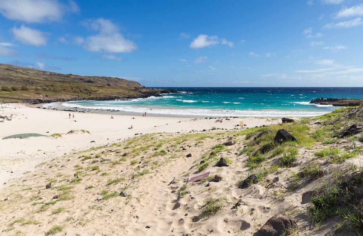 plage à l'île de pâques