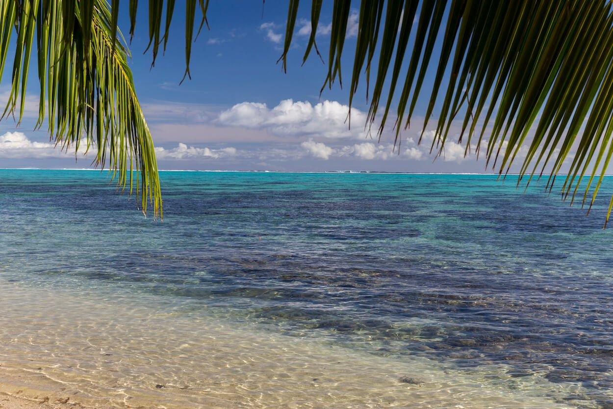 plage de l'île de Moorea