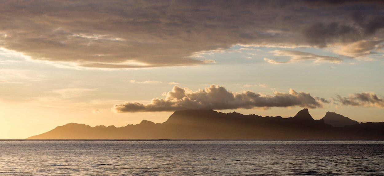 Vue sur l'île de Moorea