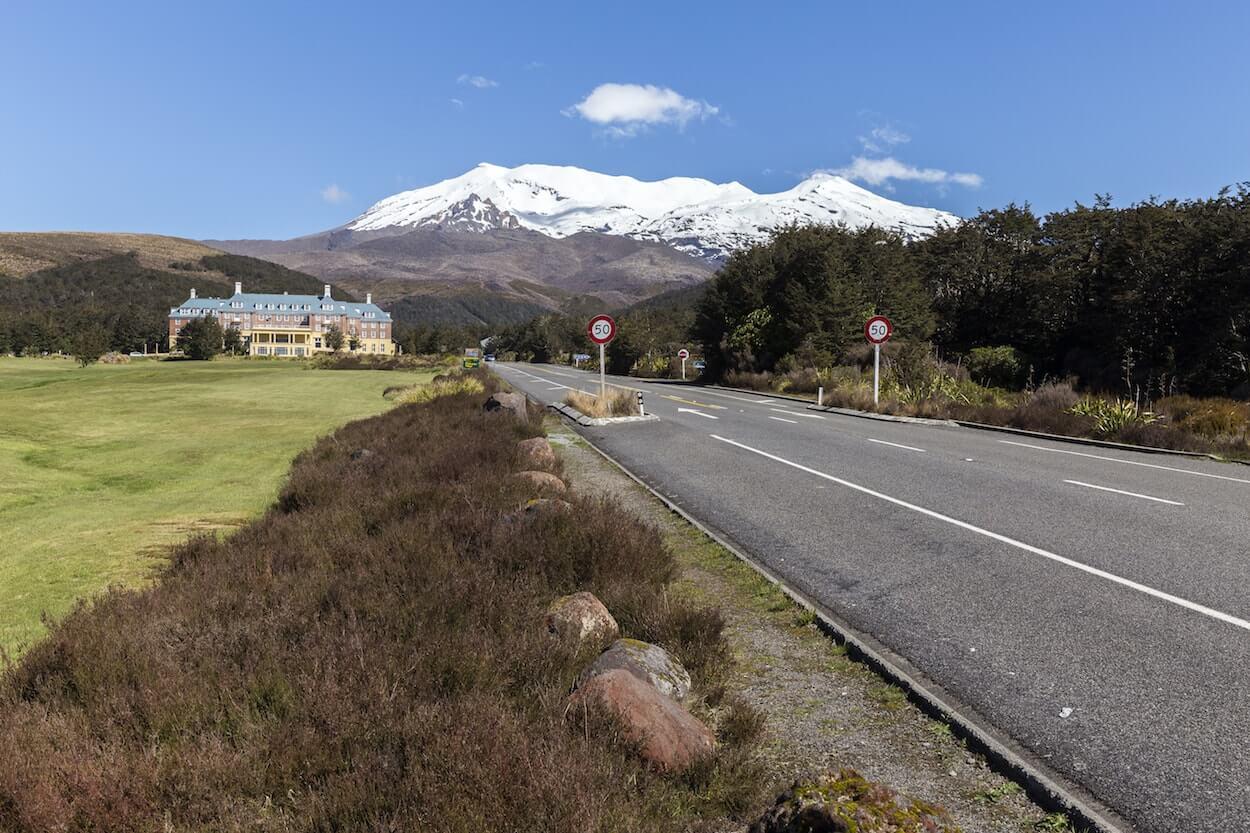 point de vue sur la route en Nouvelle-Zélande