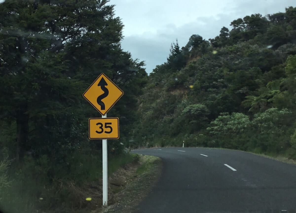 la route en Nouvelle-Zélande