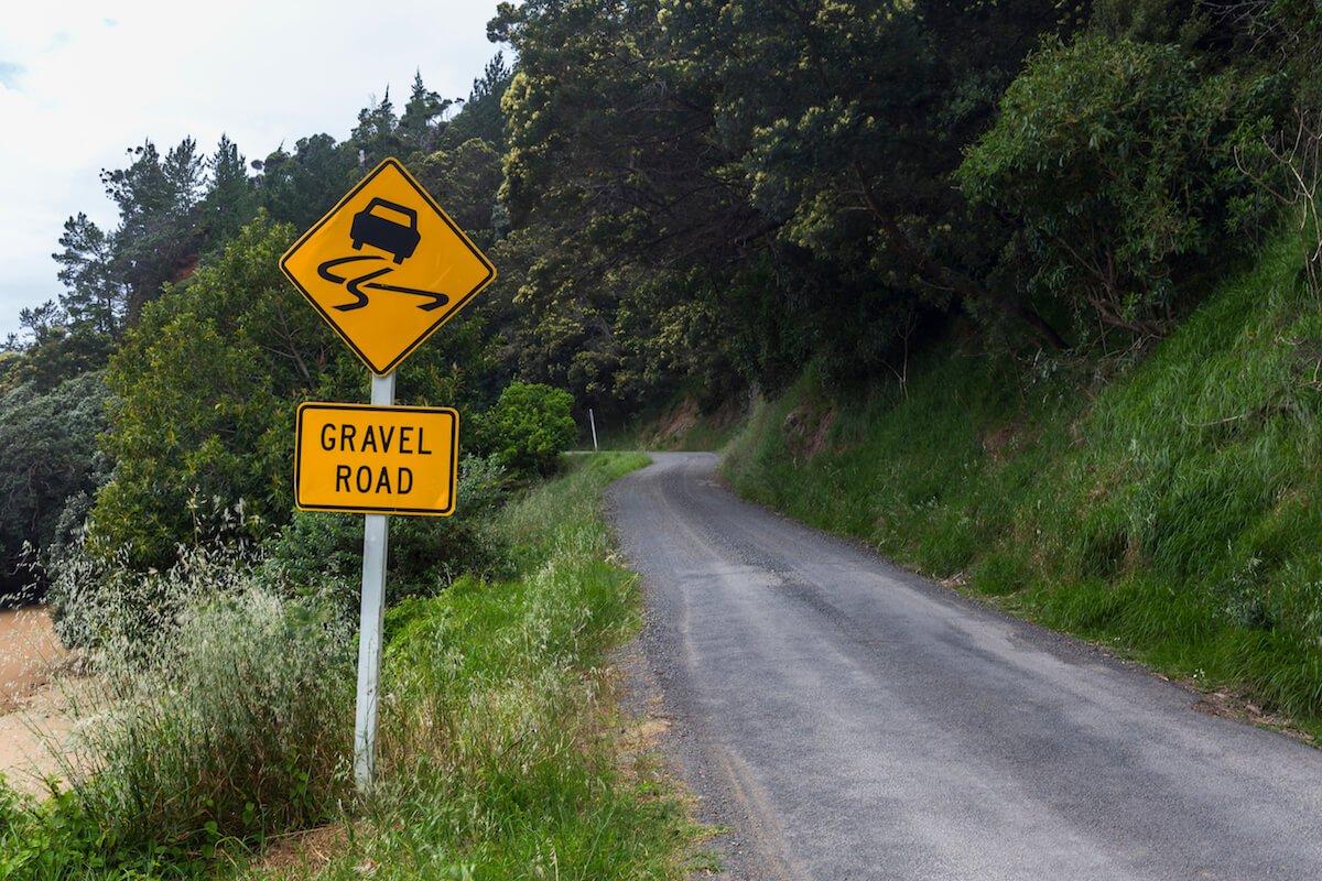 les routes en gravier en nouvelle-zélande