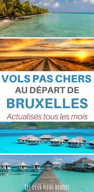 Billet pas chers au départ de Bruxelles