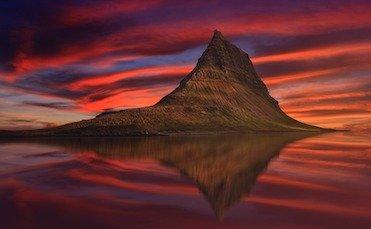 vols au départ de nice vers l'islande