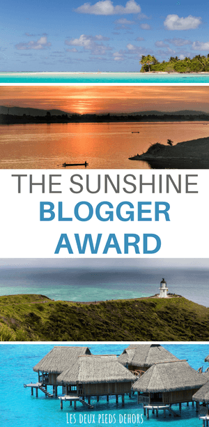 The Shunshine blogger award
