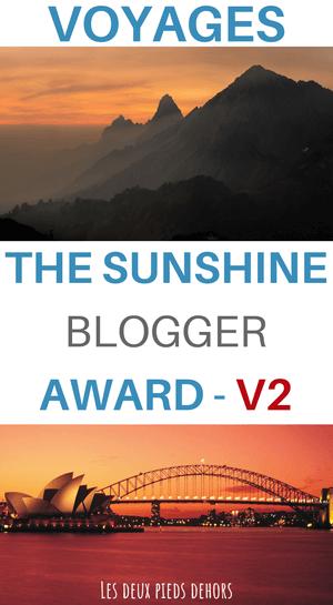 The Shunshine blogger award