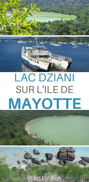 Lac Dziani sur l'île de mayotte