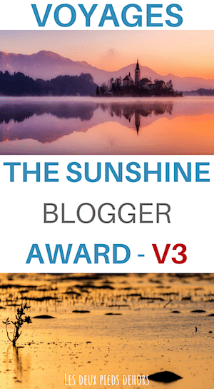 The sunshine blogeur award v3