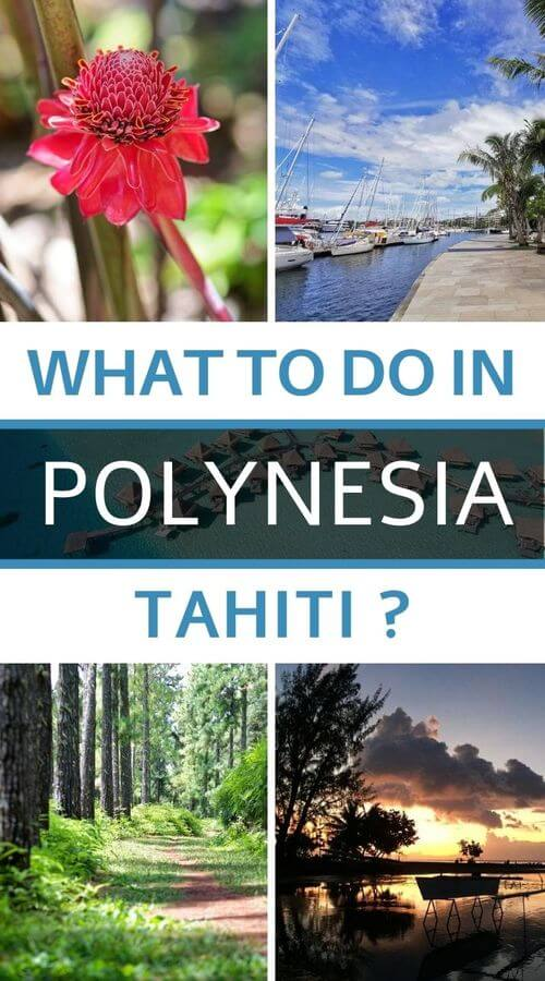 What to do in Tahiti