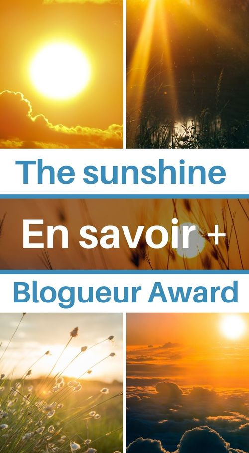 the sunshine blogueur award
