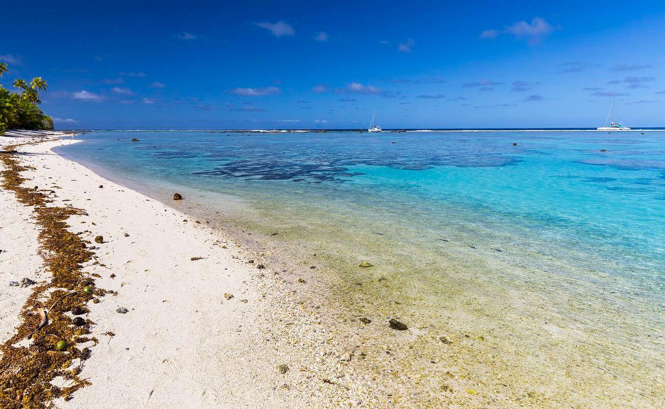 plage de l'atoll de tetiaroa, sortie en polynésie sur l'atoll de tetiaroa