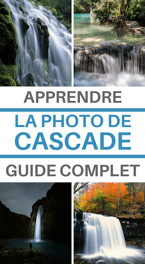 photo de cascade en pose longue