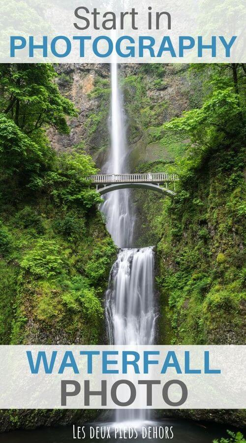 the long exposure to achieve a waterfall photo