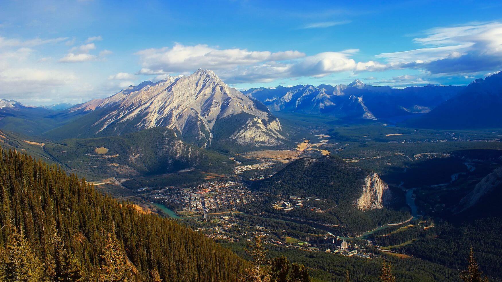 magnifique vue dans le parc national de banff
