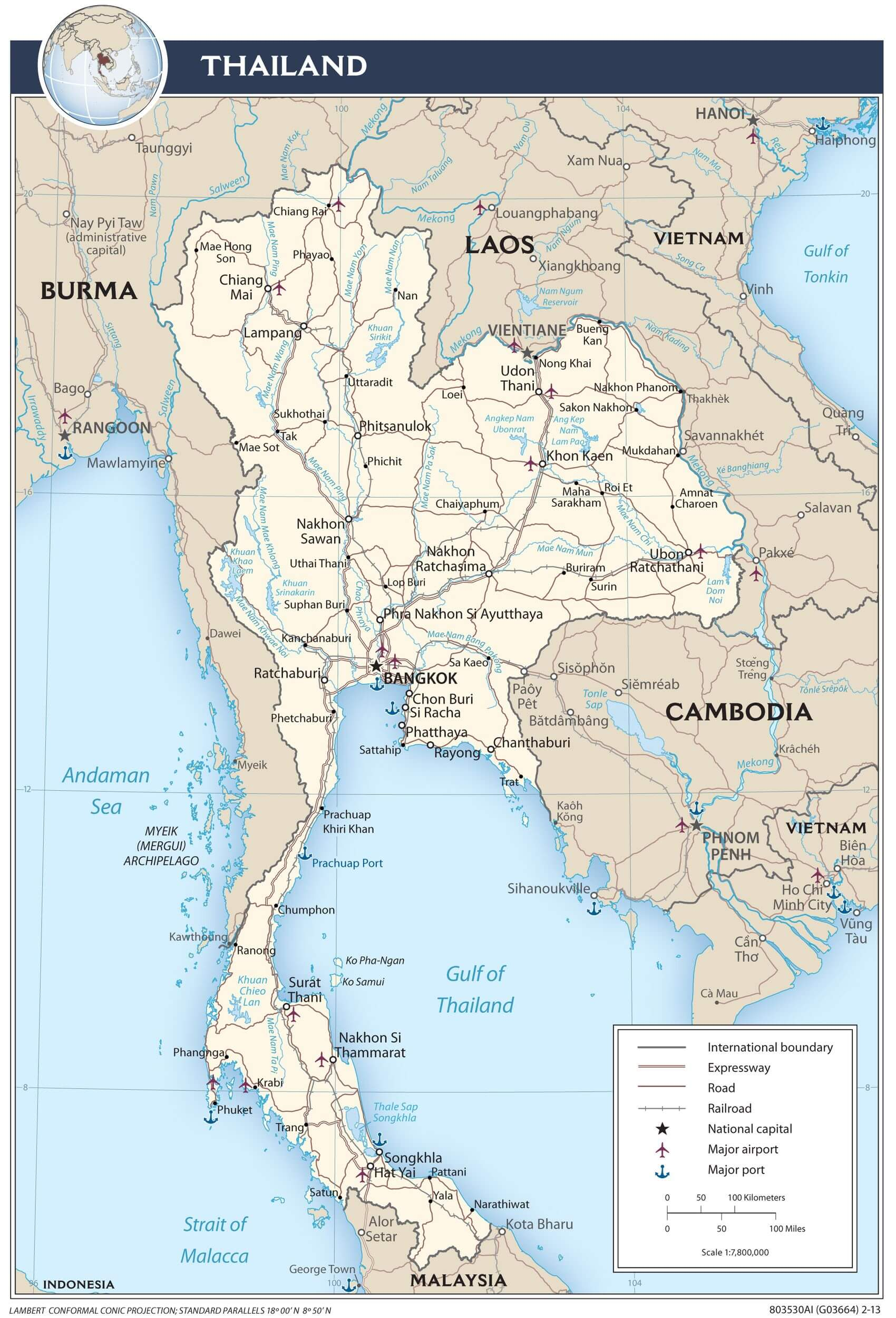 Visiter la thailande avec carte du pays