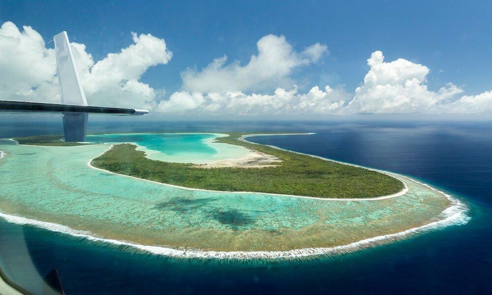 Survol de Bora Bora