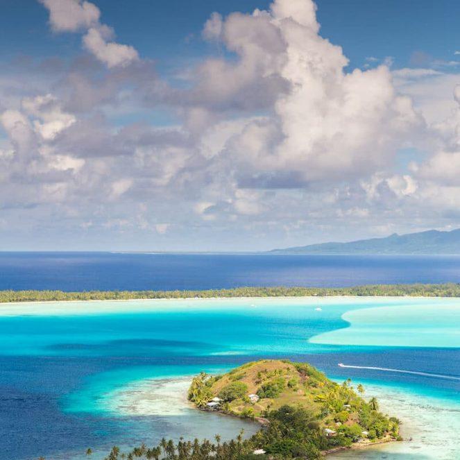 Bora Bora Polynésie vue superbe lagon