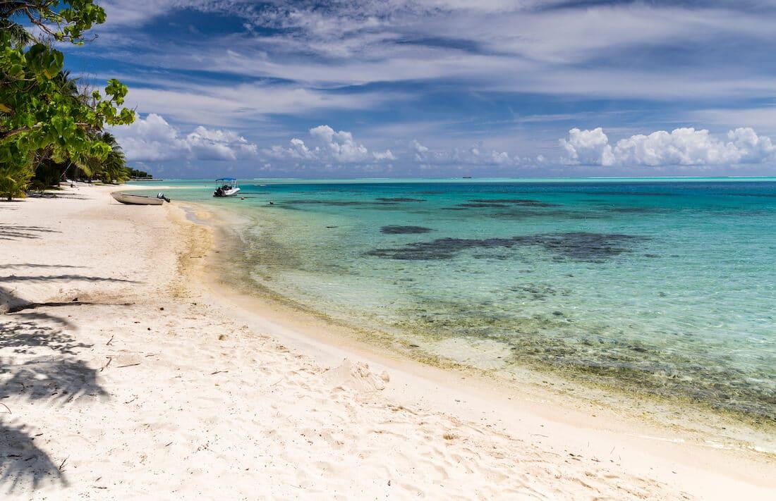 Se baigner à Bora Bora