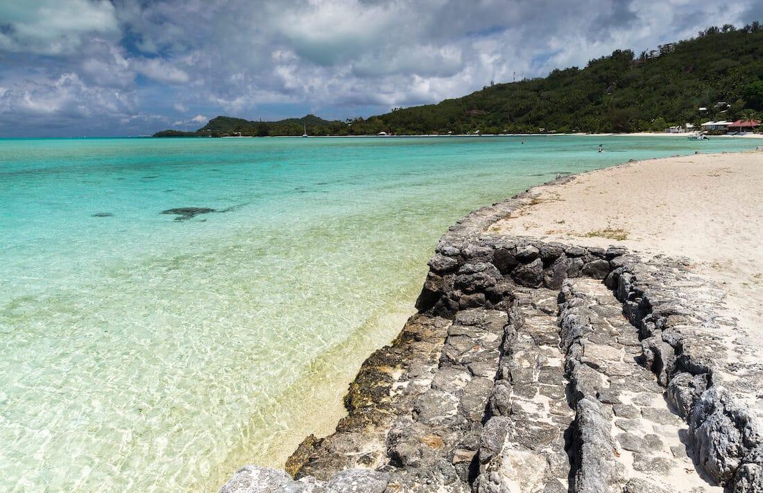 La plage à Bora Bora