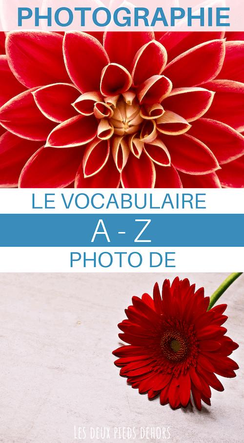 vocabulaire en photographie