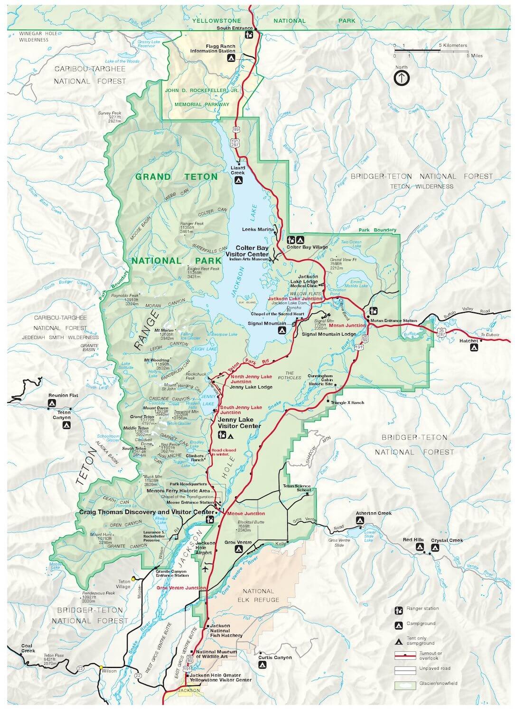 map of grand teton national park