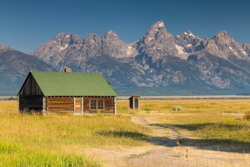 paysages parc national du grand teton aux USA