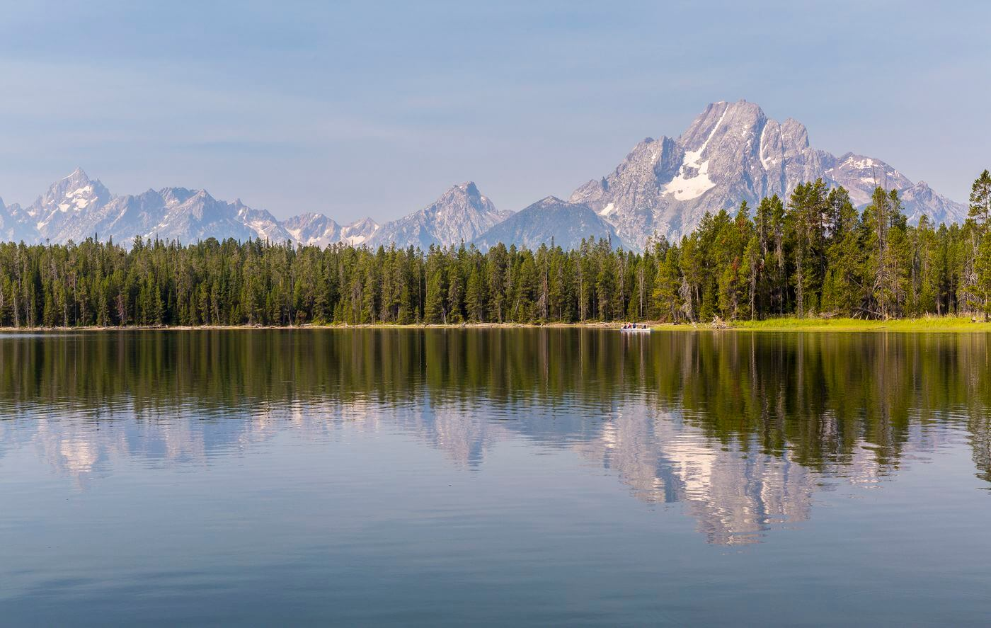 balade en bateau lac grand teton national parc