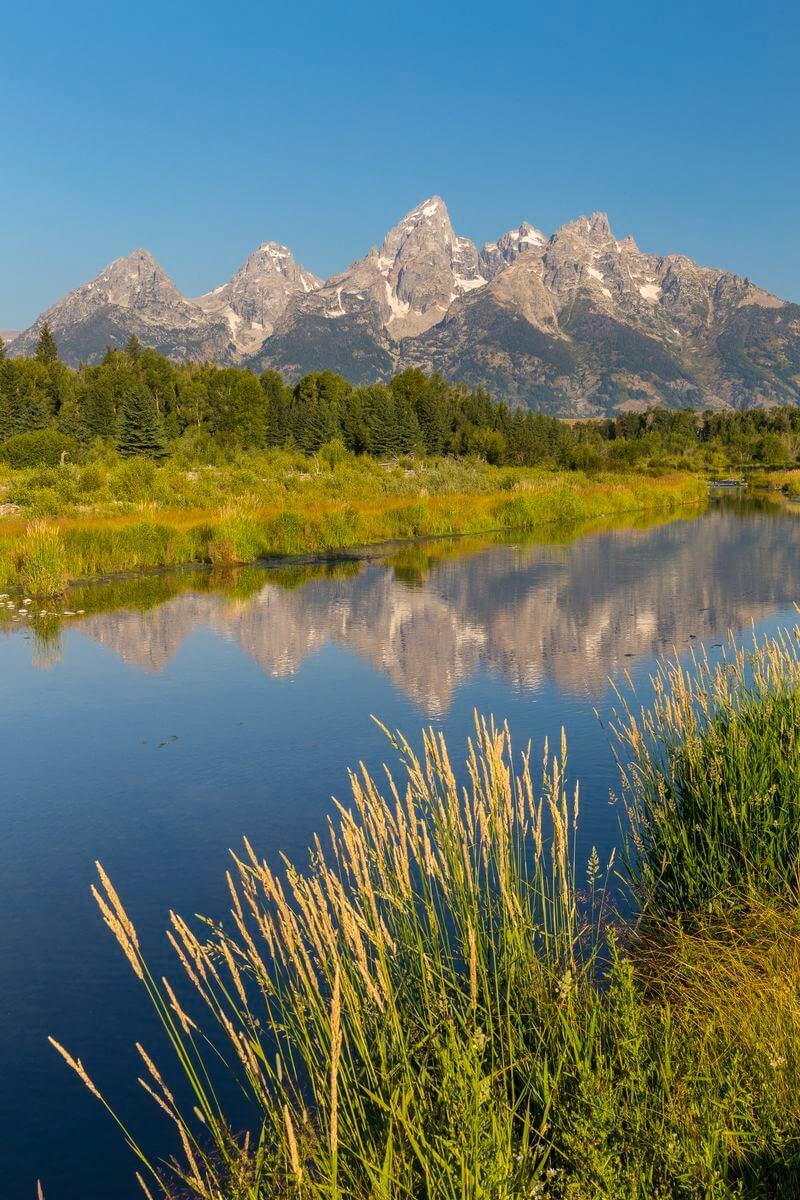 paysages du parc national de grand teton aux états unis