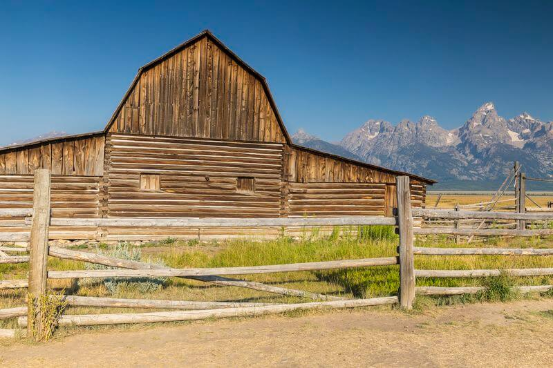 grange parc national du grand teton aux états-unis