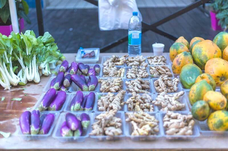 les légumes au marché de papeete