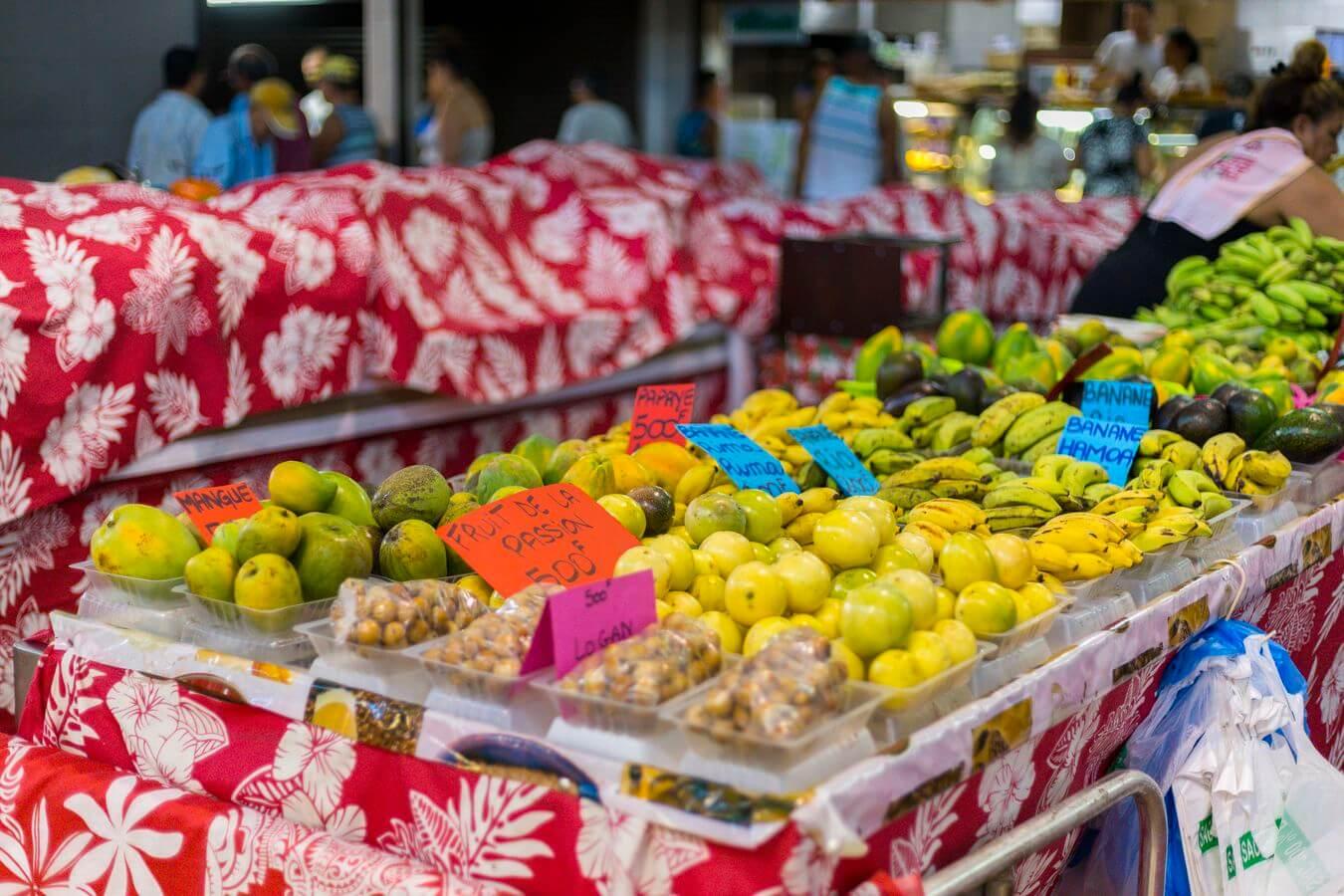 le marché à tahiti