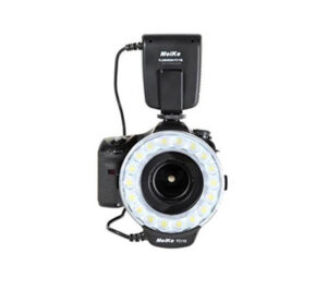 flash annulaire et objectif macro