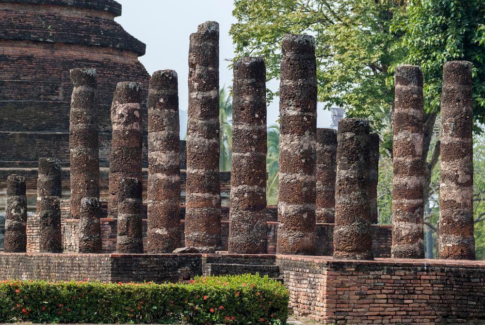 temples de sukhothai en thailande