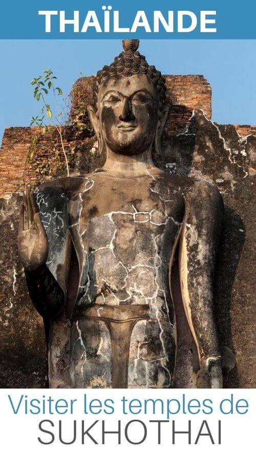 temples sukhotahai thailande asie