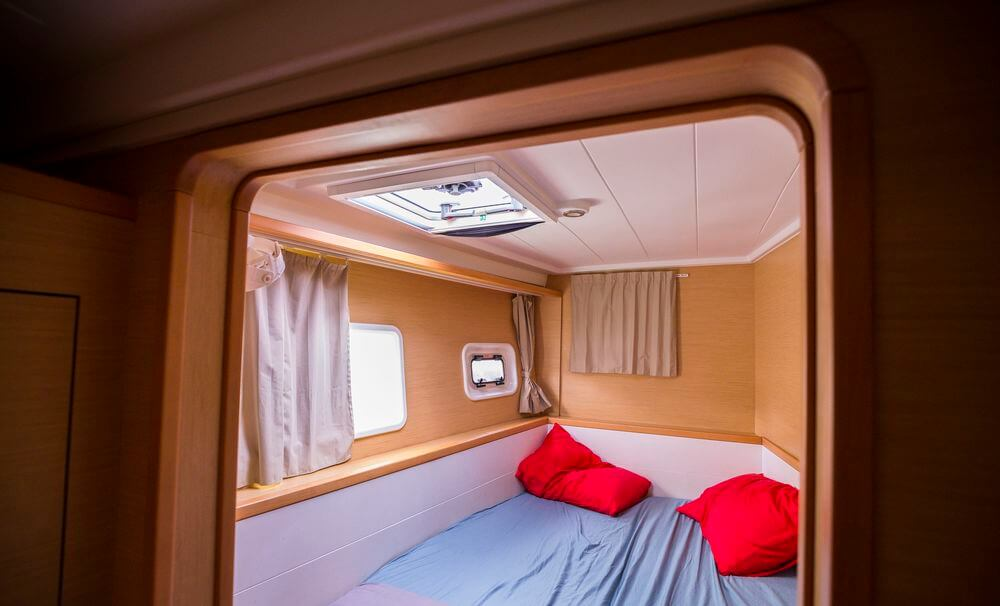 cabine croisière catamaran