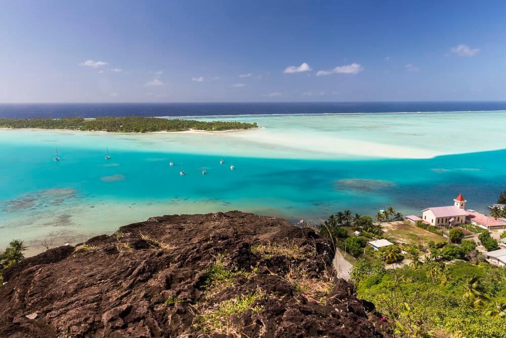 le camping à maupiti, polynésie