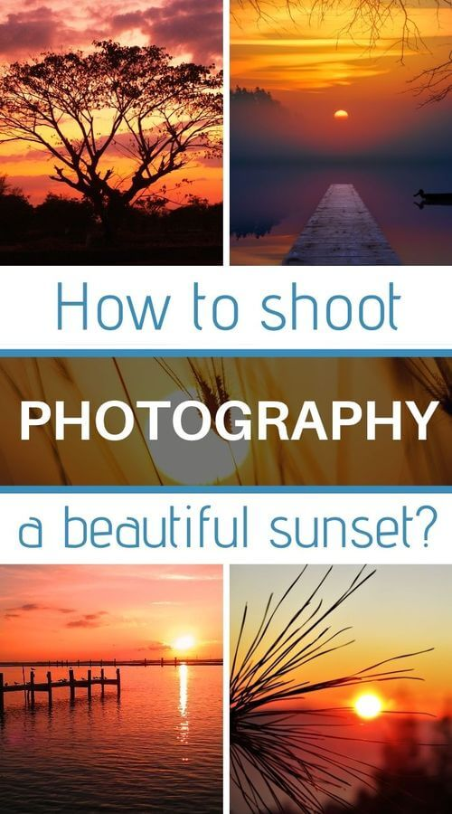 how to shoot a sunset
