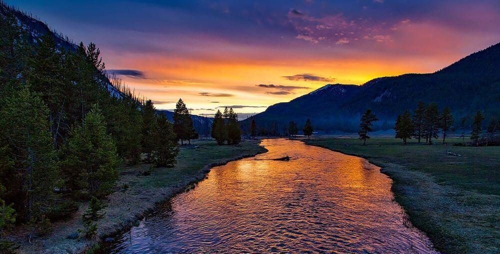 ligne directrice et photo de coucher de soleil