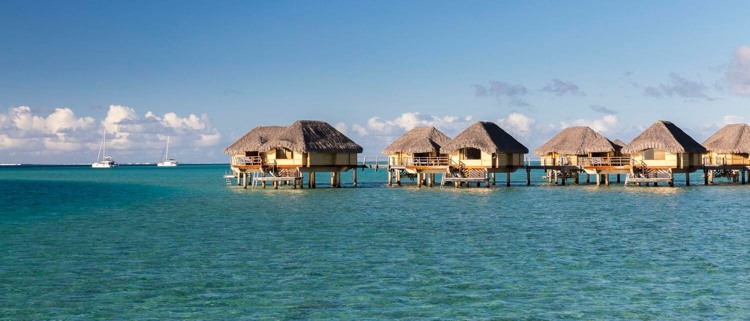 overwater bungalow of the tahaa resort and spa