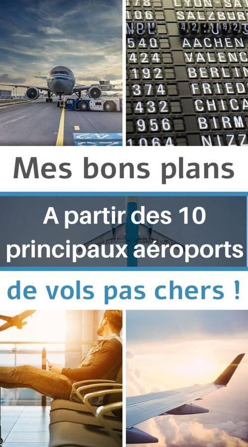 Bons plans de vols pour voyager pas cher