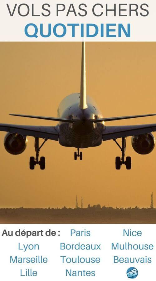 Vols pas chers au départ des principaux aéroports français
