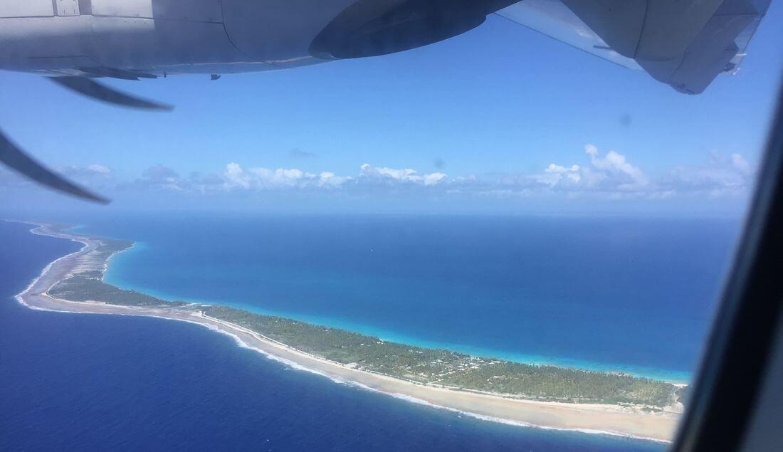 atoll de rangiro en vol vers l'île de mataiva