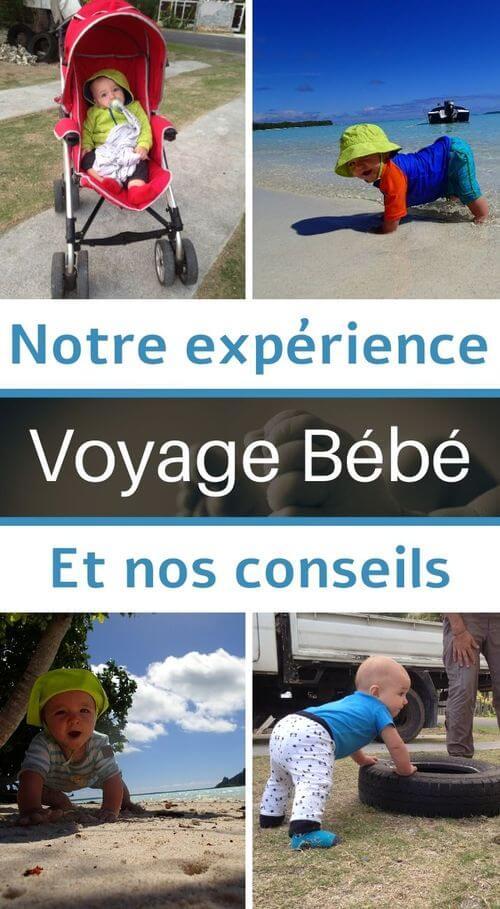 expérience de voyages avec bébé