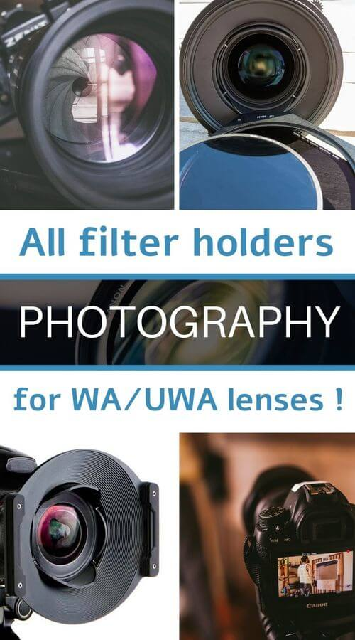 filter holder systems for wide angle lenses
