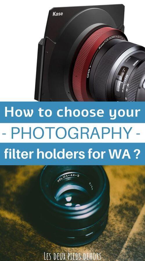 wide angle filter holder system